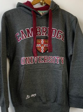 Official Cambridge University Applique Hoody – Charcoal & Maroon – SALE
