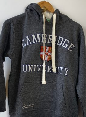 Exclusive Cambridge University Hoody – Charcoal & Cream