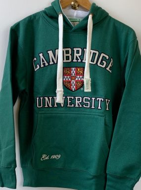 Official Applique University of Cambridge Hoody – Green